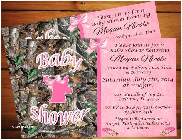 Pink Camo Baby Shower Invitations 30 Baby Shower Invitations Printable Psd Ai Vector