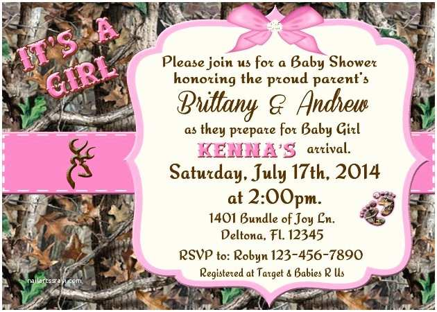 Pink Camo Baby Shower Invitations Pink Camo Baby Shower Invitations