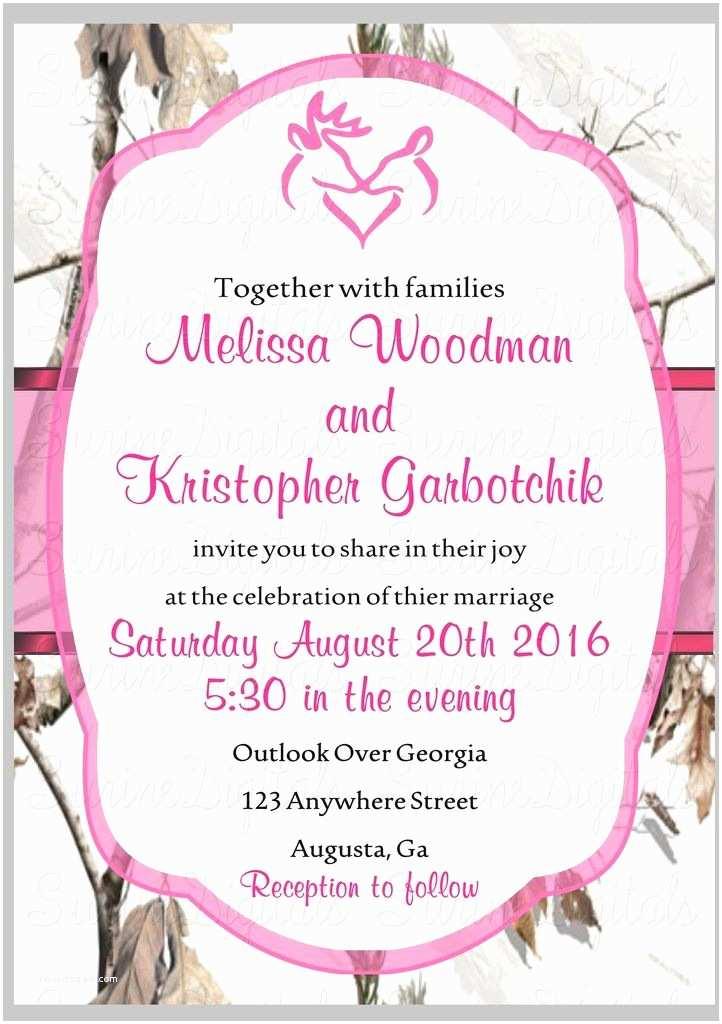 Pink Camouflage Wedding Invitations 1000 Ideas About Camo Wedding Invitations On