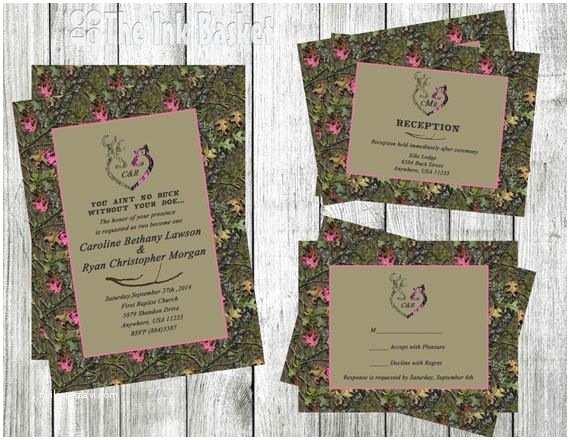 Pink Camouflage Wedding Invitations 12 Best Wedding Invitations Images On