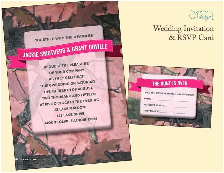 Pink Camouflage Wedding Invitations 53 Best Wedding Invitations Images On Pinterest