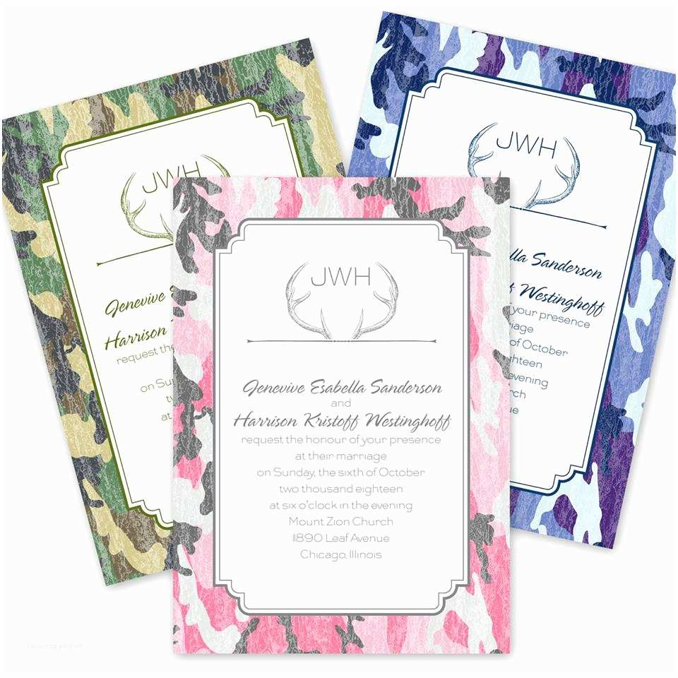 Pink Camouflage Wedding Invitations How to Use Camouflage In Your Wedding