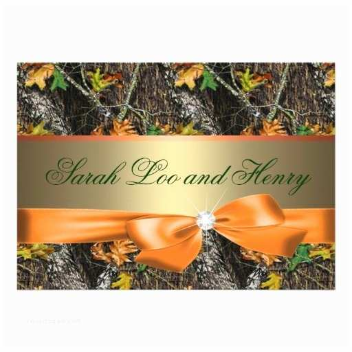 Pink Camouflage Wedding Invitations orange formal Camo Wedding Invitation Templates for Your