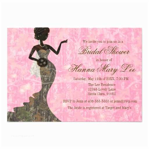 Pink Camouflage Wedding Invitations Personalized Pink Camo Bridal Invitations