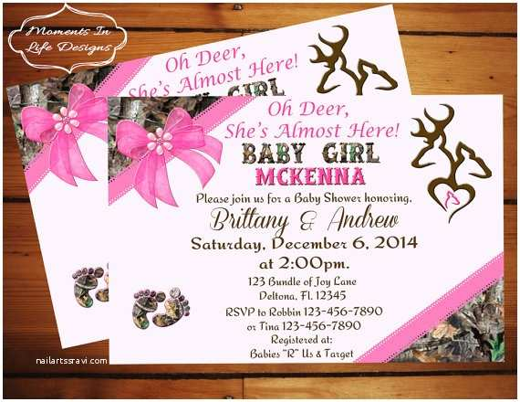 Pink Camouflage Wedding Invitations Pink Camo Baby Shower Invitations –
