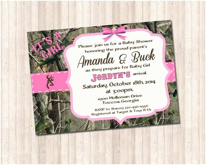 Pink Camouflage Wedding Invitations Pink Camouflage Invitation