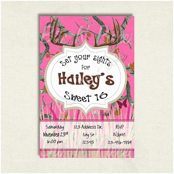 Pink Camouflage Wedding Invitations Pink Camouflage Invite Pink Camo Birthday Invitation