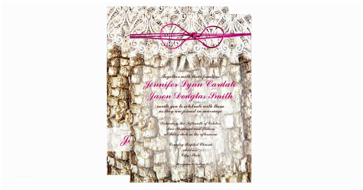 Pink Camouflage Wedding Invitations Rustic Country Camo Pink Bow Wedding Invitations