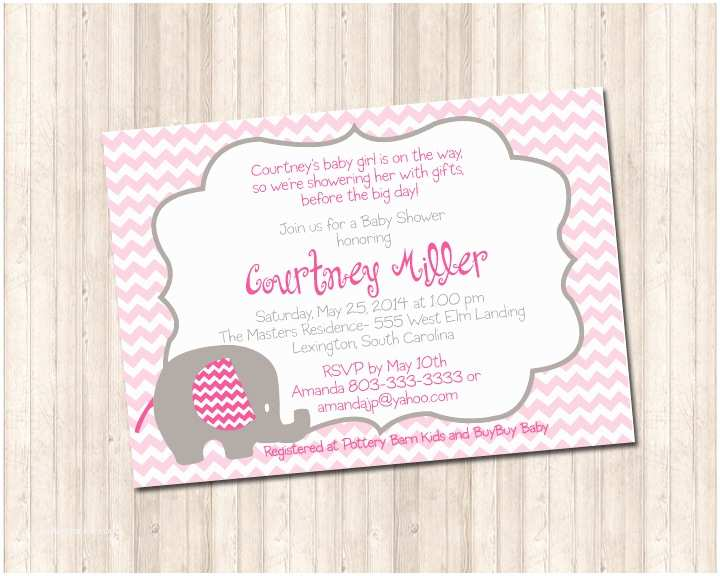 Pink Elephant Baby Shower Invitations Baby Shower Pink Elephant Invitation Pure Design Graphics