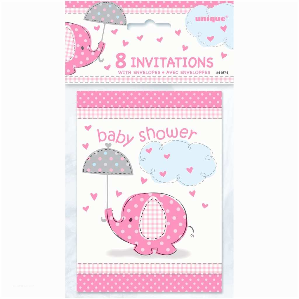 Pink Elephant Baby Shower Invitations Pink Elephant Baby Shower Invitations 8ct