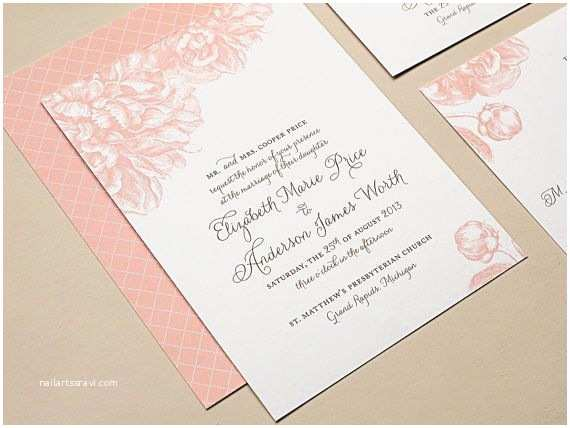 Pink Peony Wedding Invitations 60 Best Images About Wedding Invites On Pinterest
