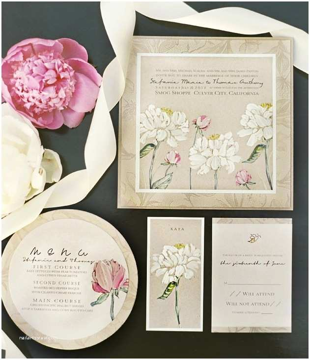 Pink Peony Wedding Invitations A Peek Into The Studio Pink Peony Weddingmomental