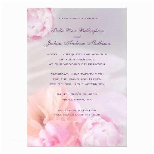 Pink Peony Wedding Invitations Pink Peonies Wedding Invitation