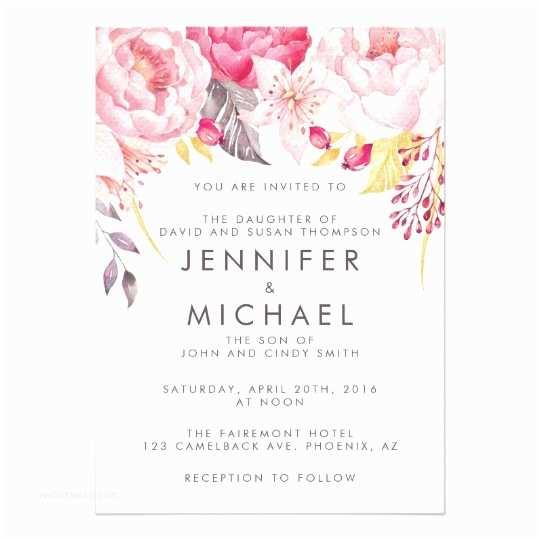 Pink Peony Wedding S Pink Peony Watercolor Floral Wedding