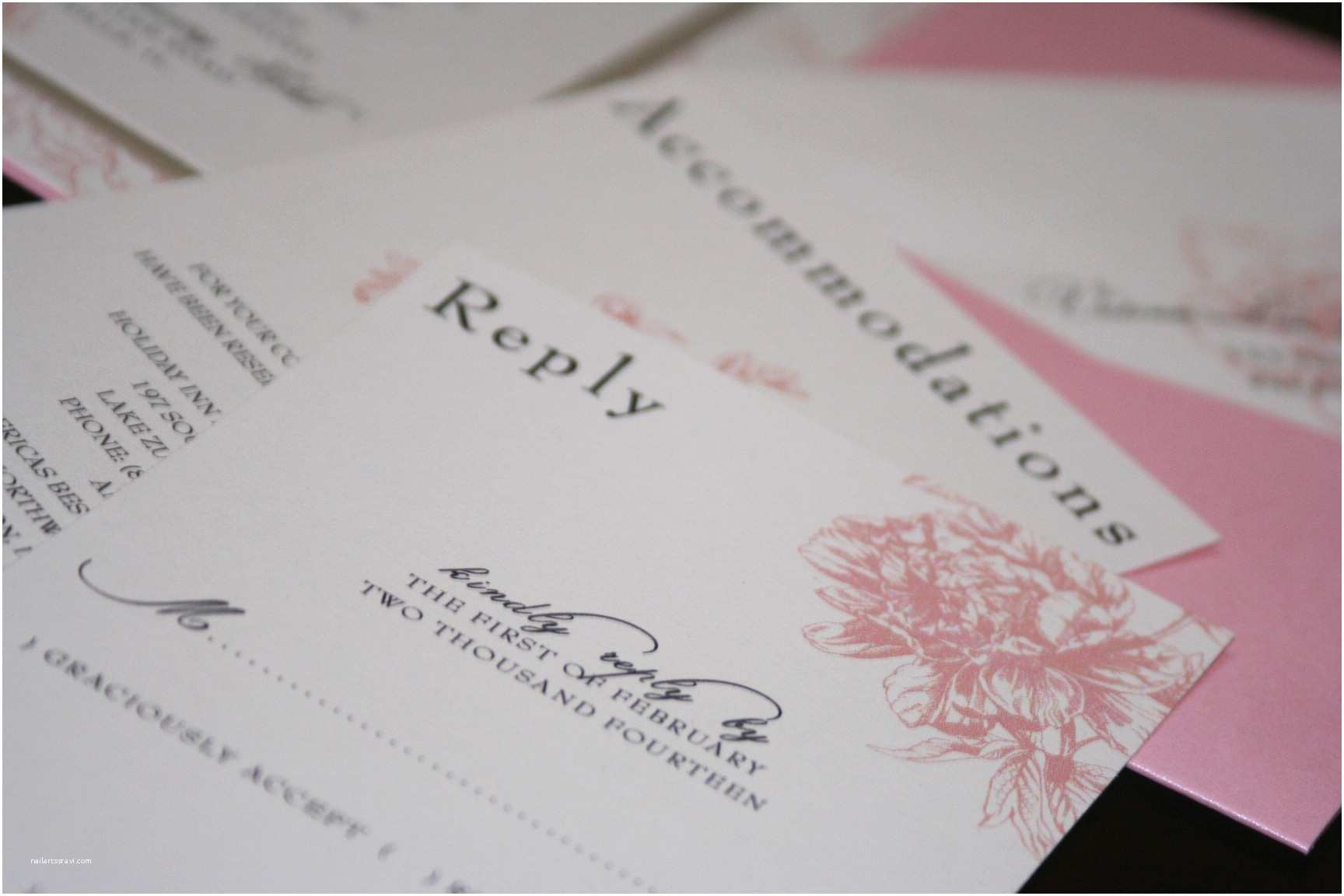 Pink Peony Wedding Invitations Pink Peony Wedding Invitations too Chic & Little Shab