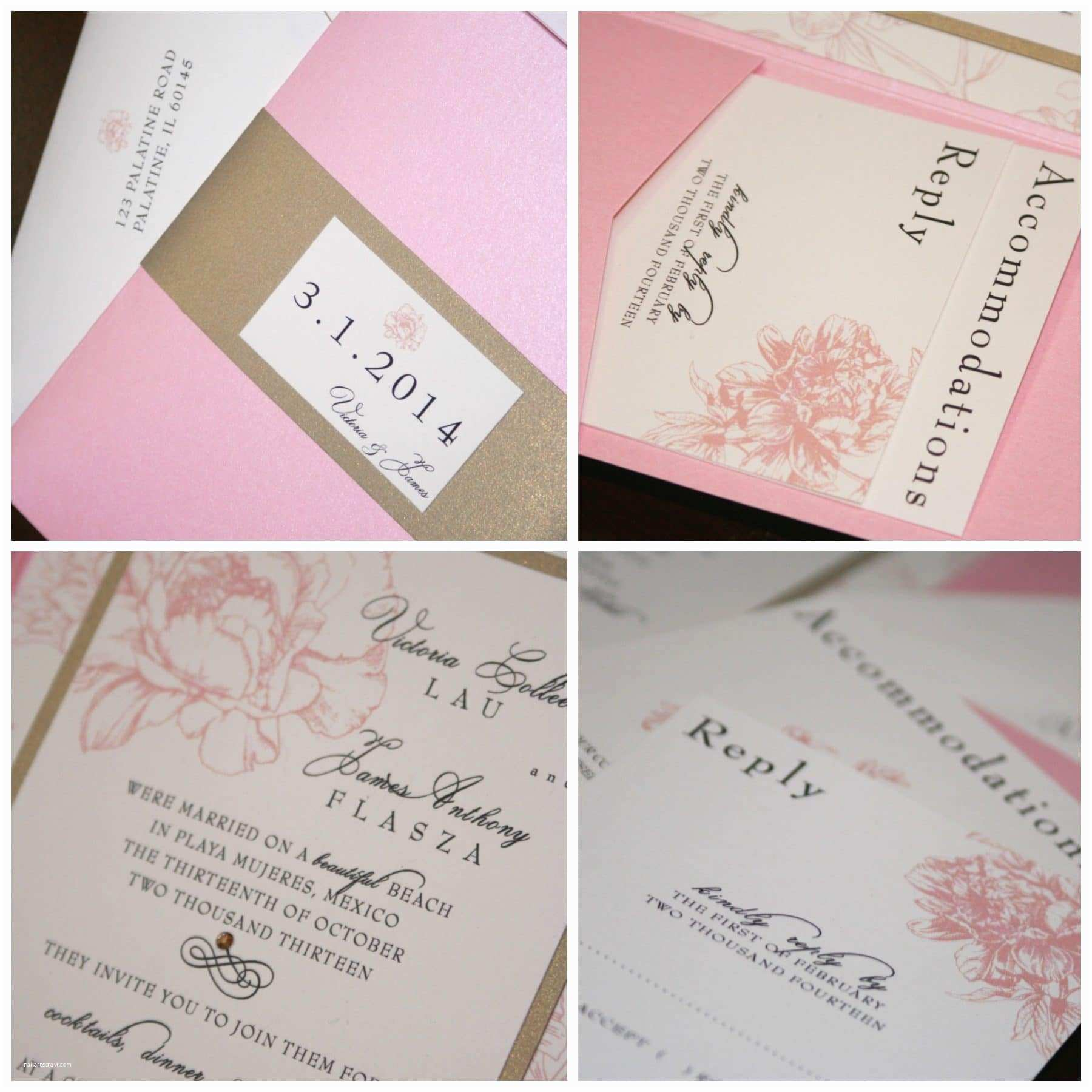 Pink Peony Wedding Invitations Pink Peony Wedding Invitations Too Chic & Little