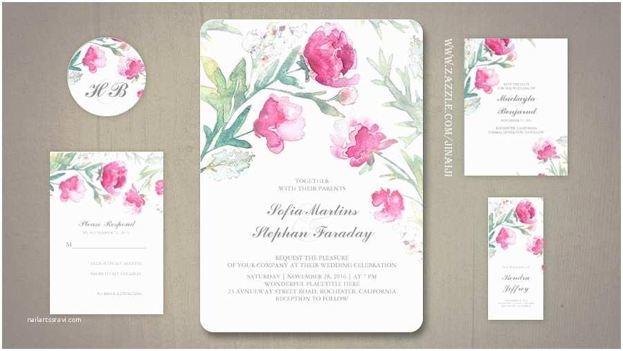 Pink Peony Wedding  Read More – Pink Peonies Watercolor Wedding