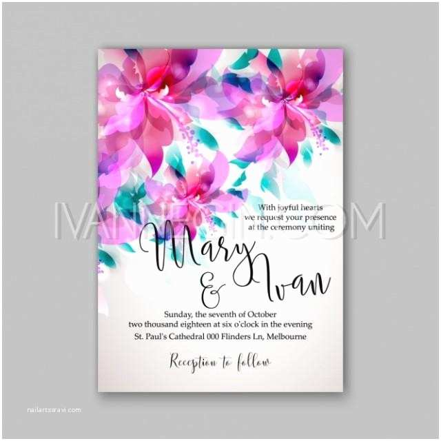 Pink Peony Wedding Invitations Romantic Pink Peony Bouquet Bride Wedding Invitation