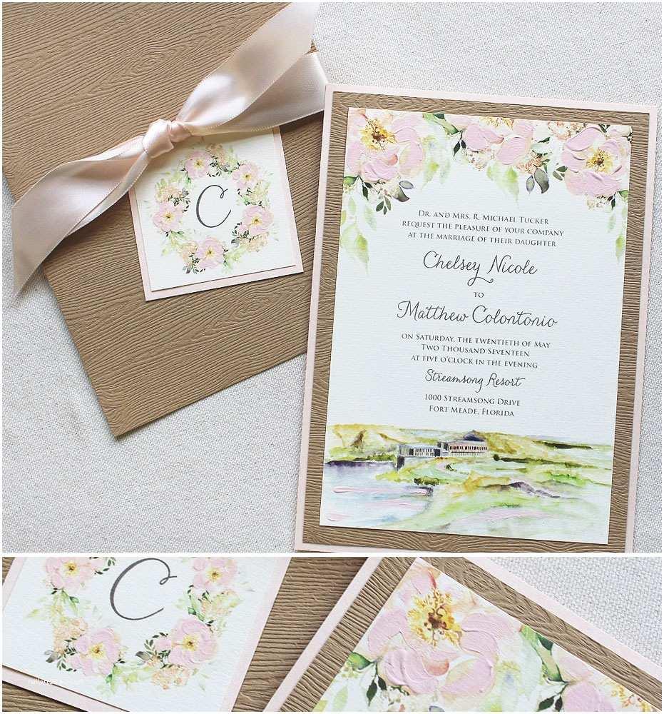 Pink Peony Wedding Invitations Watercolor City Wedding Invitationsmomental Designs