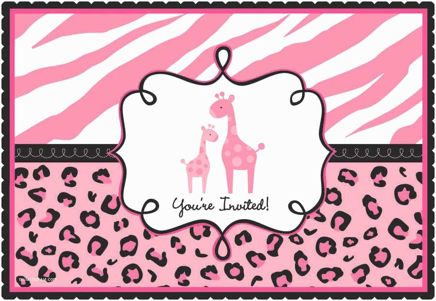 Pink Safari Baby Shower Invitations Girl Safari Baby Shower Invitations Party Xyz