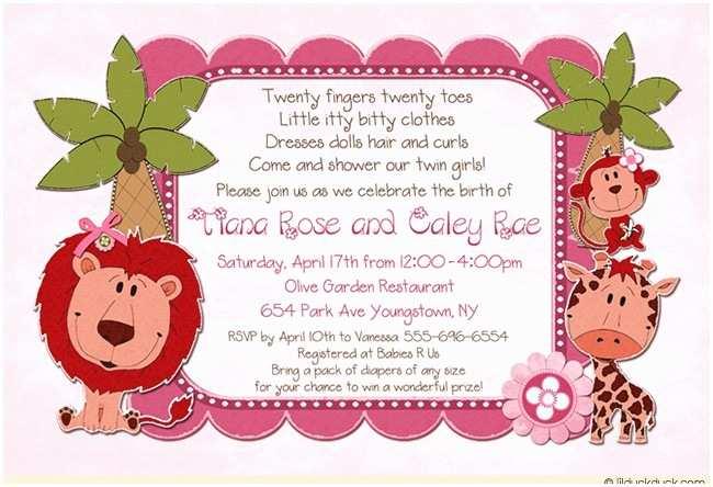 Pink Safari Baby Shower Invitations Jungle Baby Shower Invitation Safari Animals Wild