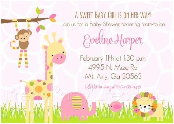 Pink Safari Ba Shower Invitations Mod Pink Jungle Ba Shower Invitation You Print