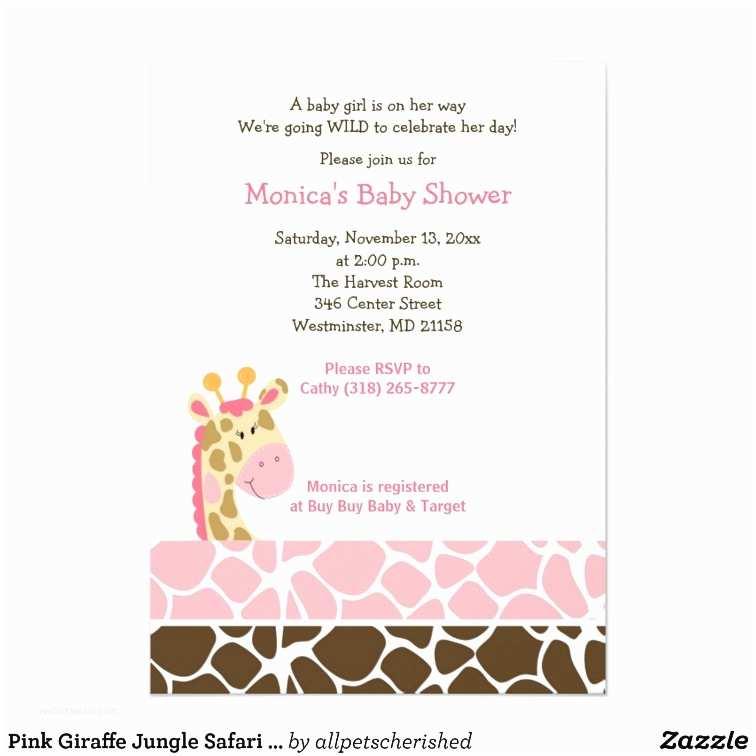 Pink Safari Baby Shower S Pink Giraffe Jungle Safari Baby Shower