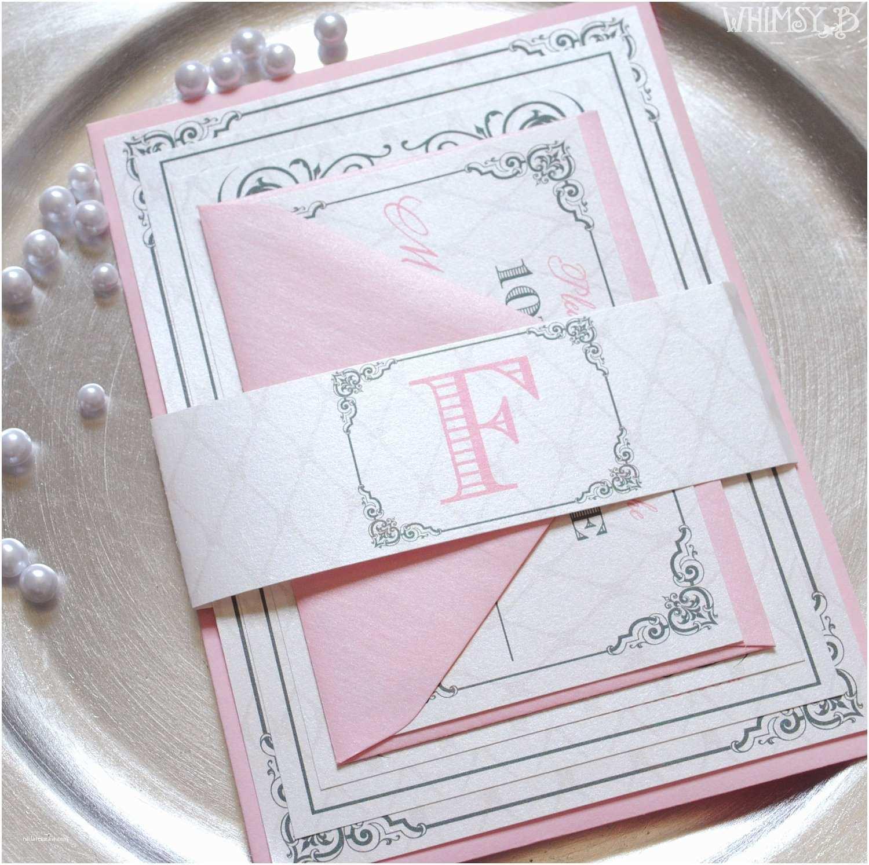 Pink Wedding Invitations Blush Wedding Invitations Pink Invitation Silver Wedding