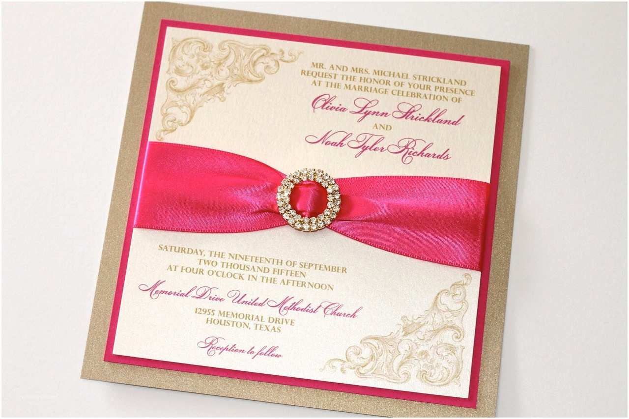 Pink Wedding Invitations Pics for Hot Pink and Grey Wedding Invitations