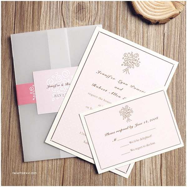 Pink Wedding Invitations top 10 Wedding Colors Ideas and Wedding Invitations for