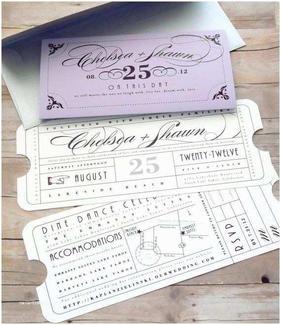 Pinterest Wedding Invitations Vintage Ticket Wedding Invitation