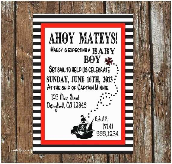 Pirate Baby Shower Invitations 20 Pirate Baby Shower Invitations
