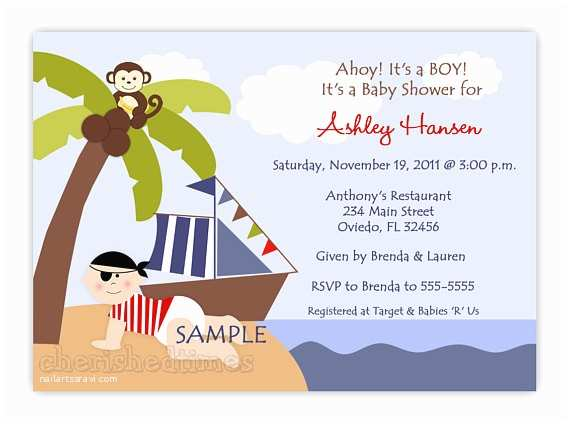 Pirate Baby Shower Invitations Baby Pirate for A Girl or Boy Baby Shower Invitation Digital