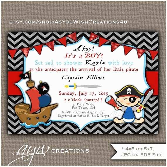 Pirate Baby Shower Invitations Pirate Baby Shower Invitation Boy Invitation Pirate