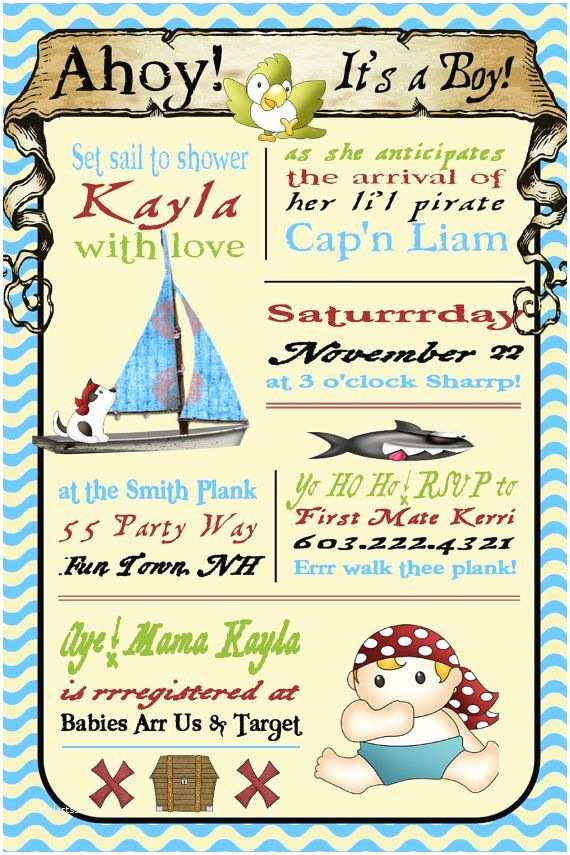 Pirate Baby Shower Invitations Pirate Baby Shower Invitation Printable Party Xyz