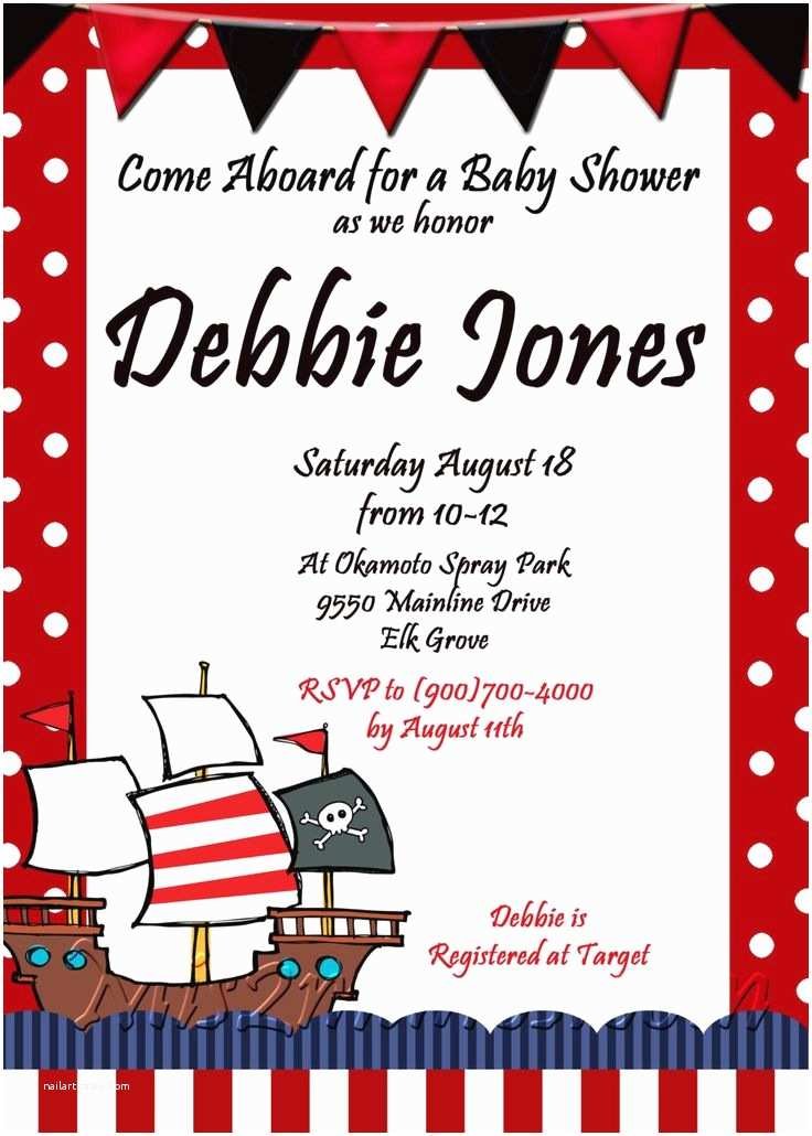 Pirate Baby Shower Invitations Pirate Of Caribbean Baby Shower Invitation Printable Print