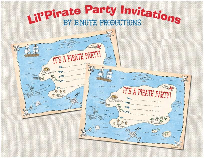 Pirate Birthday Invitations Bnute Productions Free Printable Pirate Party Invitations