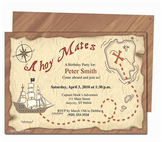 Pirate Birthday Invitations Free Printable Pirates Birthday Party Invitations