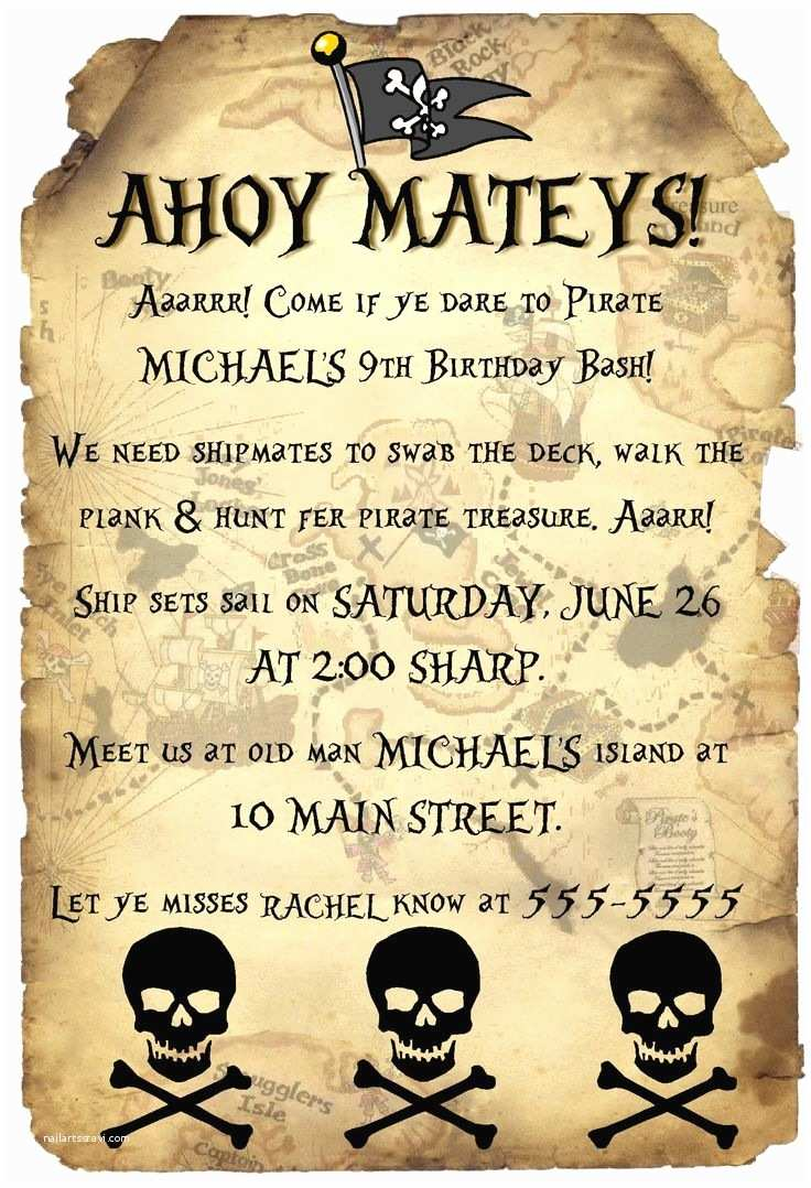 Pirate Birthday Invitations Pinterest • the World's Catalog Of Ideas