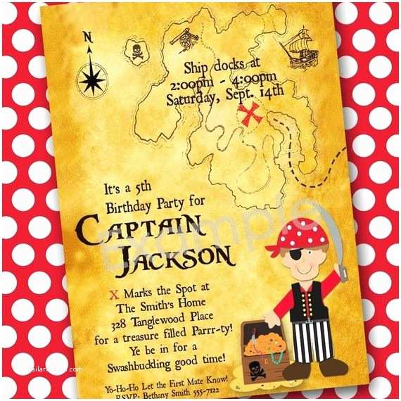 Pirate Birthday Invitations Pirate Party Pirate Party Invitation Thank You