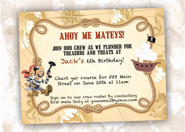 Pirate Party Invitations Pirate Party Invitations Birthday Printed by