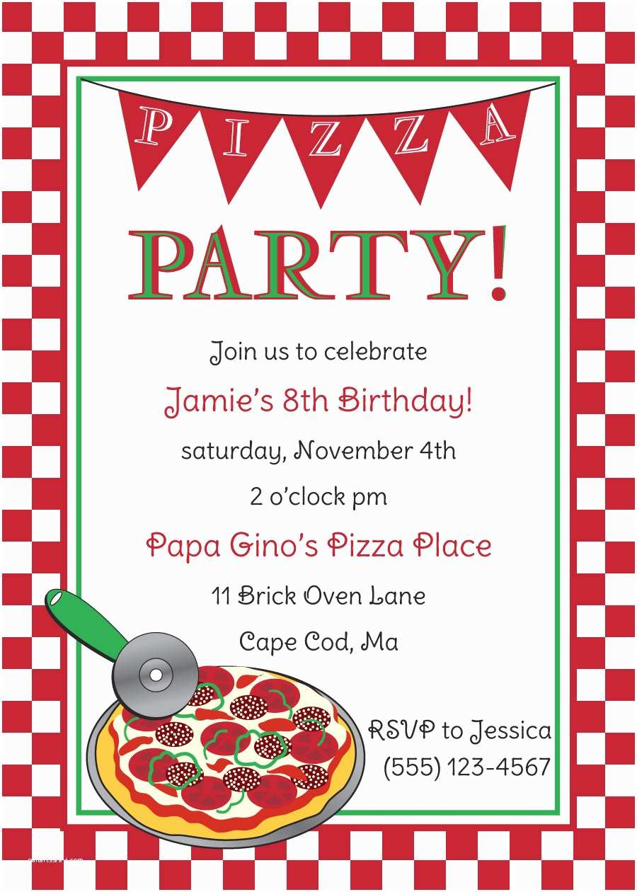 Pizza Party Invitations Free Pizza Party Invitation Templates Cloudinvitation
