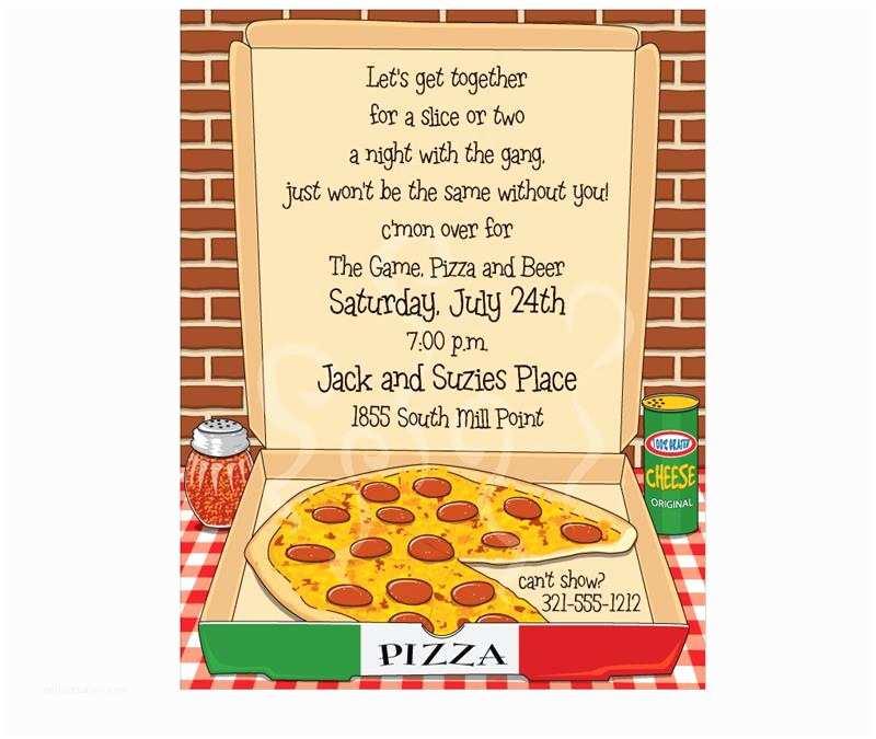 Pizza Party Invitations Hot Pizza Invitation Sheets