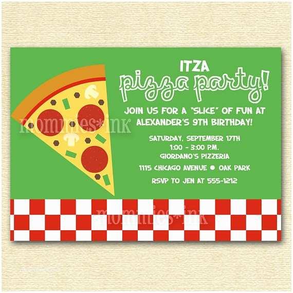 Pizza Party Invitations Items Similar to Pizza Party Birthday Invitation
