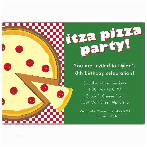 Pizza Party Invitations Itza Pizza Party Invitations