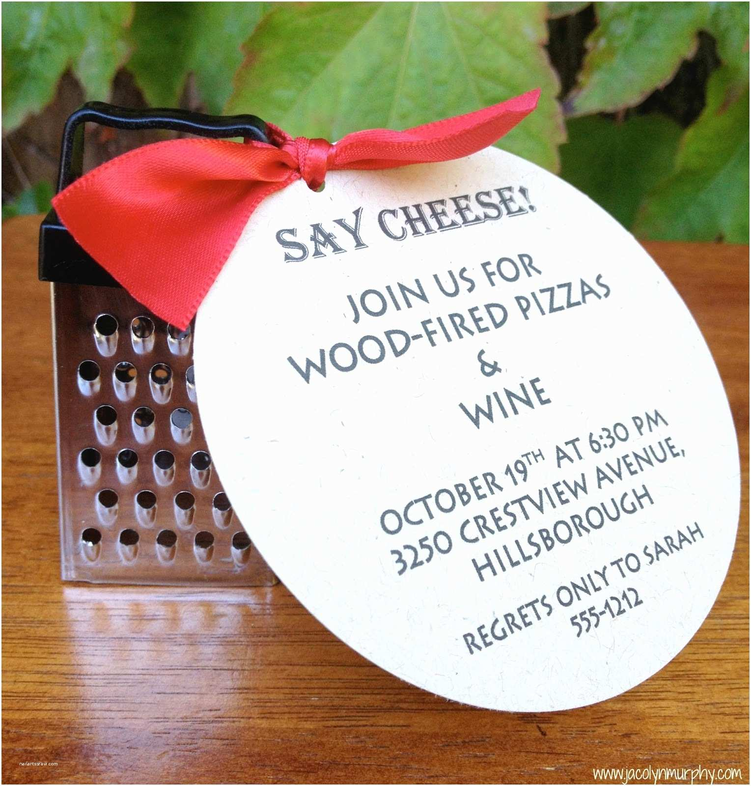 """Pizza Party Invitations Jac O Lyn Murphy """"grate"""" Little Pizza Party Invitations"""