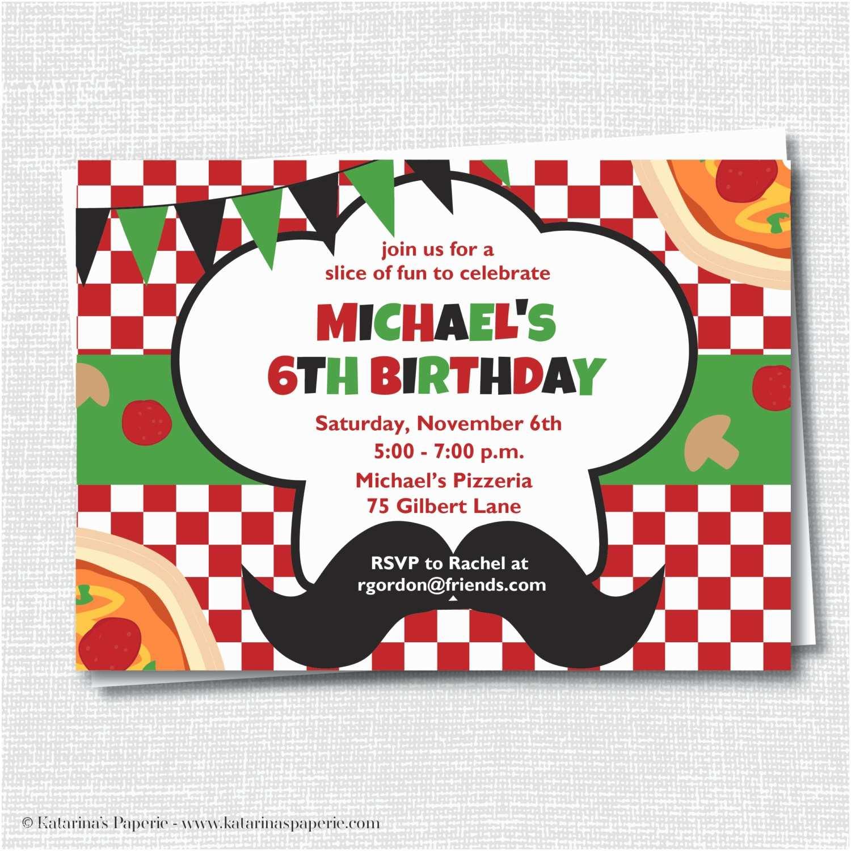 Pizza Party Invitations Pizza Birthday Party Invitation Pizza Party by