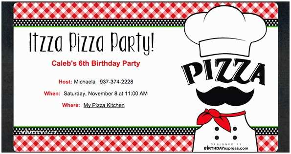 Pizza Party Invitations Pizza Party Invitation