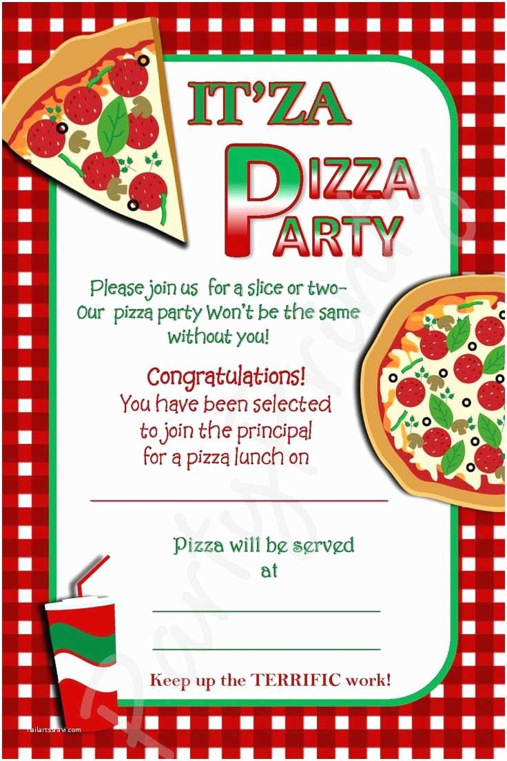 Pizza Party Invitations Pizza Party Invitation Template Free