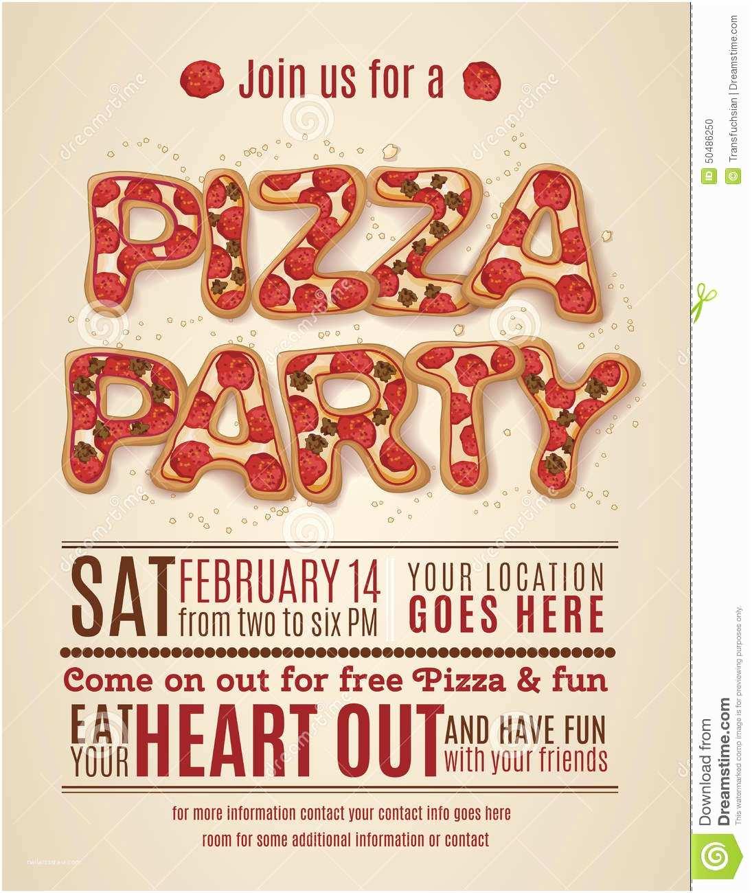 Pizza Party Invitations Pizza Party Invitations Free